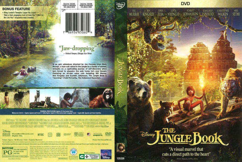 The Jungle Book 2016 R1 Dvd Cover Dvdcover Com