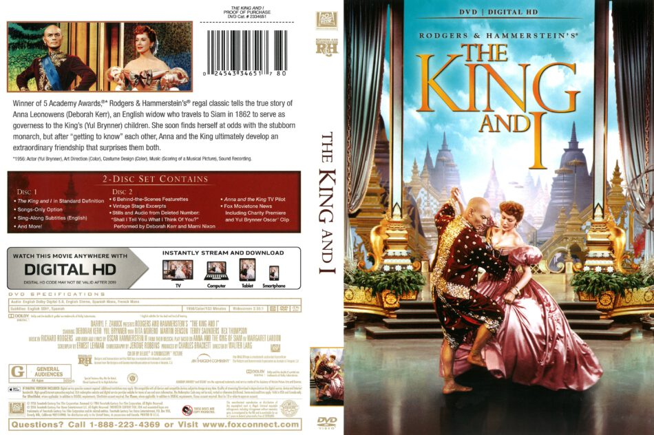 The King and I (1956) R1 DVD Cover - DVDcover.Com