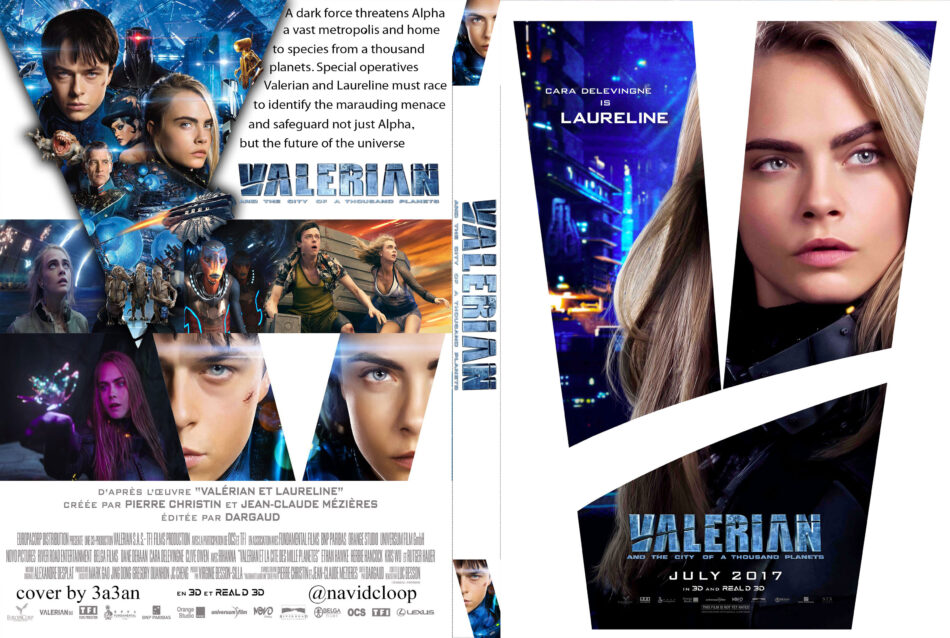 Valerian And The City Of A Thousand Planets 2017 R0 Custom Dvd Covers Dvdcover Com
