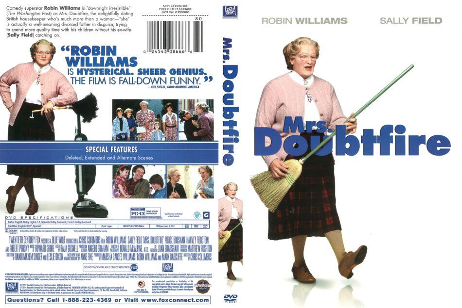 Mrs Doubtfire 1993 R1 Dvd Cover Dvdcover Com