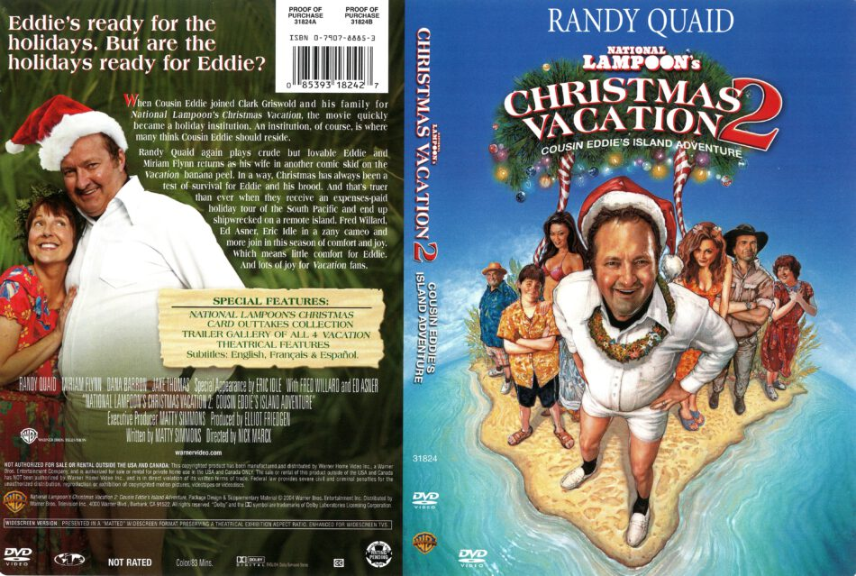 Christmas Vacation 2.National Lampoon S Christmas Vacation 2 2004 R1 Dvd Cover