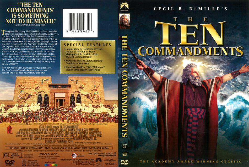 The Ten Commandments (1956) R1 DVD Cover - DVDcover Com