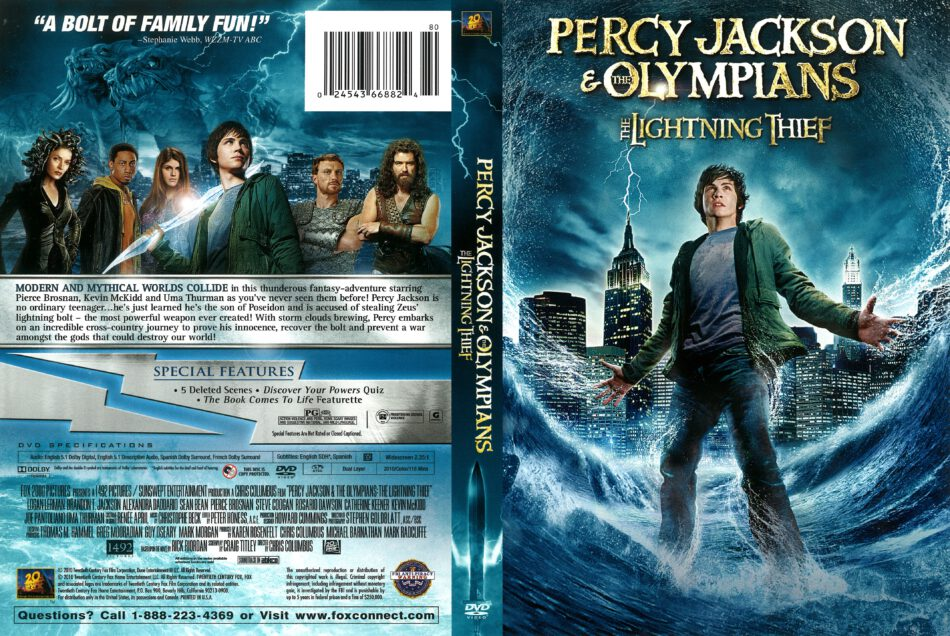 Percy Jackson And The Olympians The Lightning Thief 2010 R1 Dvd Cover Dvdcover Com