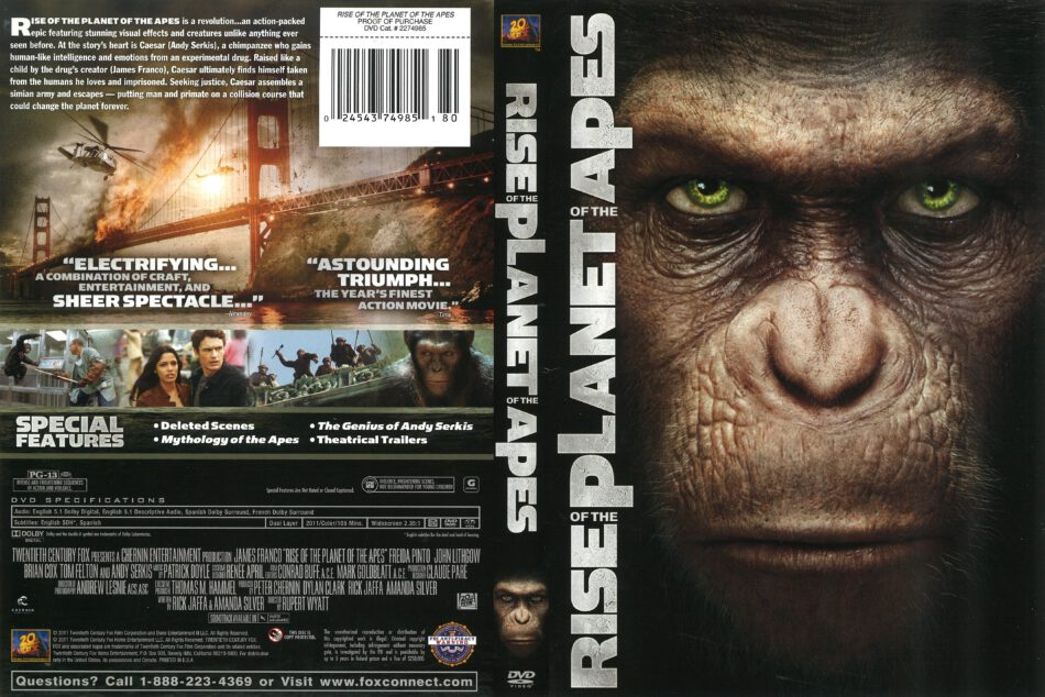Rise Of The Planet Of The Apes 2011 R1 Dvd Cover Dvdcover Com