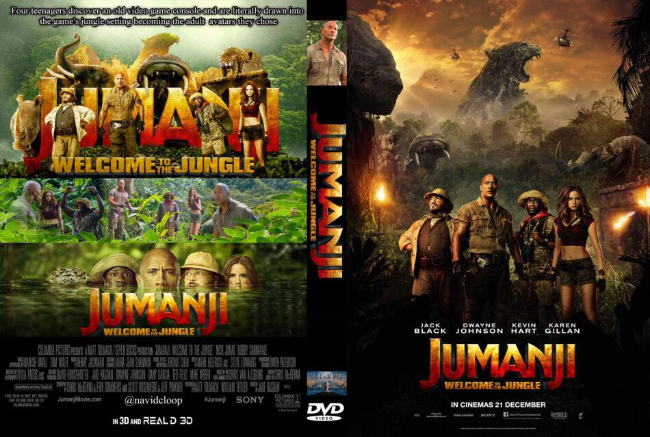 Jumanji Welcome To The Jungle 2017 R2 Custom Dvd Cover Dvdcover Com