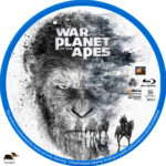 War for the Planet of the Apes (2017) R1 Custom Blu-Ray Label