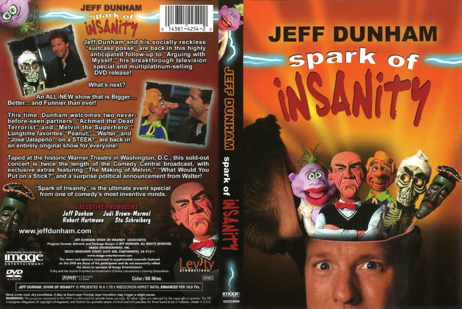 Jeff Dunham: Spark of Insanity (2007) R1 DVD Cover - DVDcover Com