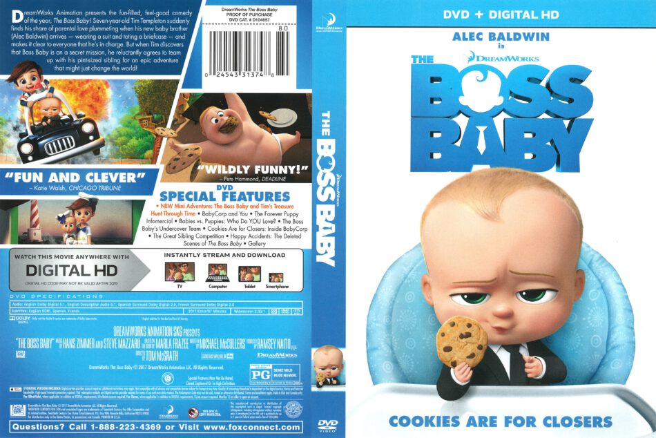 The Boss Baby 2017 R1 Dvd Cover Dvdcover Com