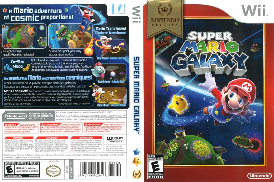 Super Mario Galaxy 2007 Wii Cover Dvdcover Com