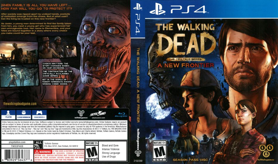 The Walking Dead A New Frontier 2017 Ps4 Cover