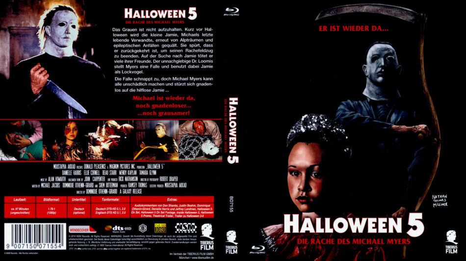 Halloween 5 Blu Ray.Halloween 5 Die Rache Des Michael Myers 1989 R2 German Blu Ray