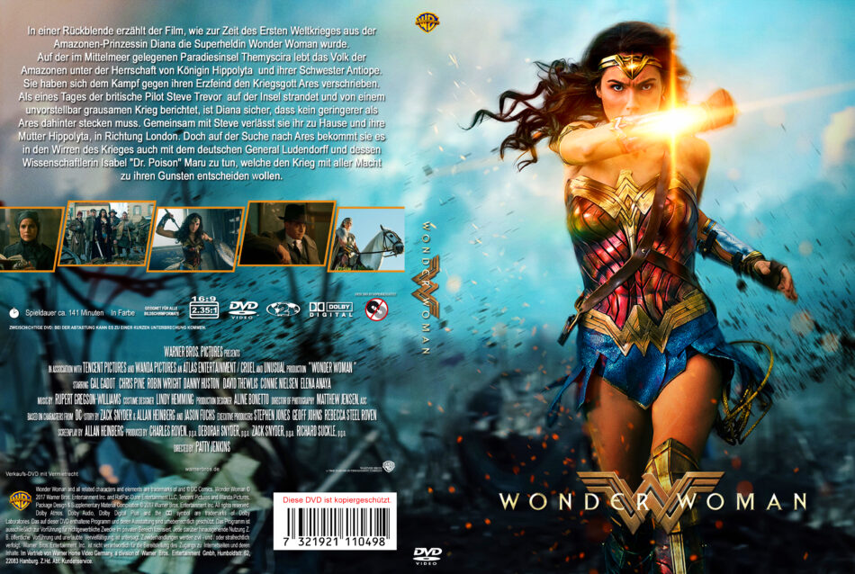 Wonder Woman 2017 R2 German Dvd Cover Dvdcover Com