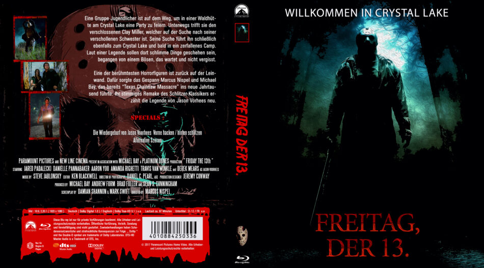 Freitag Der 13 2009 R2 German Blu Ray Cover Dvdcover Com