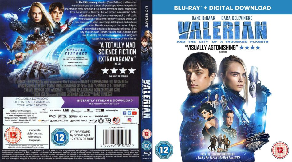 Valerian And The City Of A Thousand Planets 2017 R2 Custom Blu Ray Cover Dvdcover Com