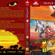 The Lion King Triple Feature (1994-2004) R1 Custom Blu-Ray Cover