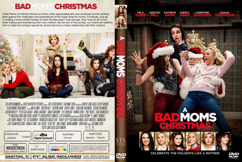 A Bad Moms Christmas Dvd Cover.A Bad Moms Christmas 2017 R1 Custom Dvd Cover Label