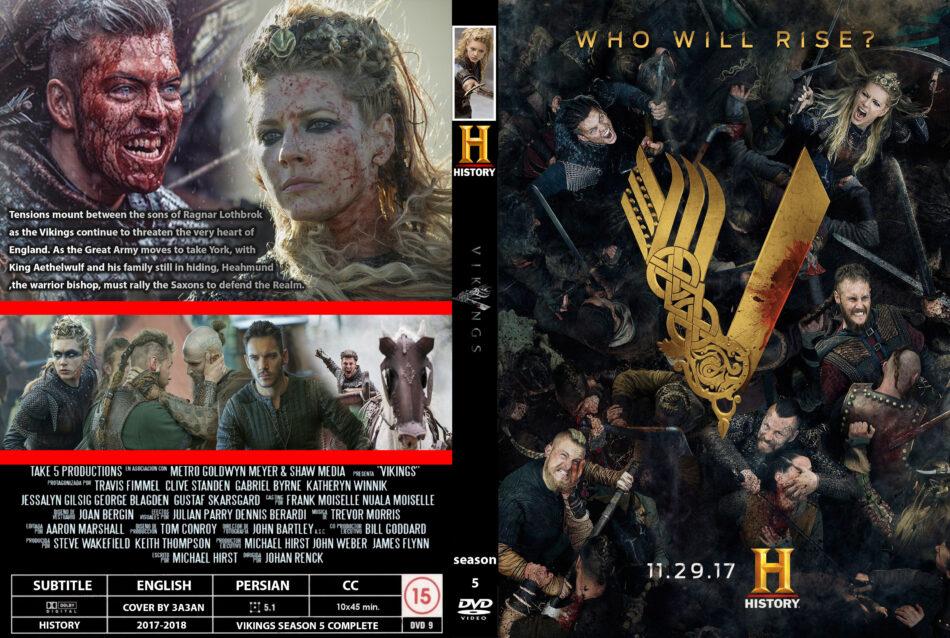 Vikings: Season 5 (2017) R0 Custom DVD Cover - DVDcover Com