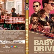 Baby Driver (2017) R1 CUSTOM DVD Cover & Label