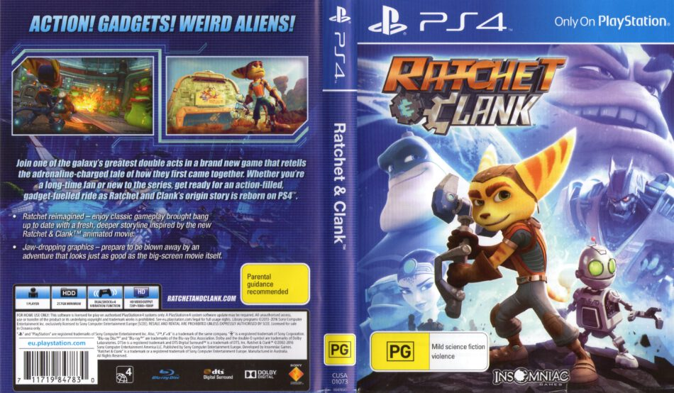 Ratchet Clank 2016 Pal Ps4 Cover Dvdcover Com