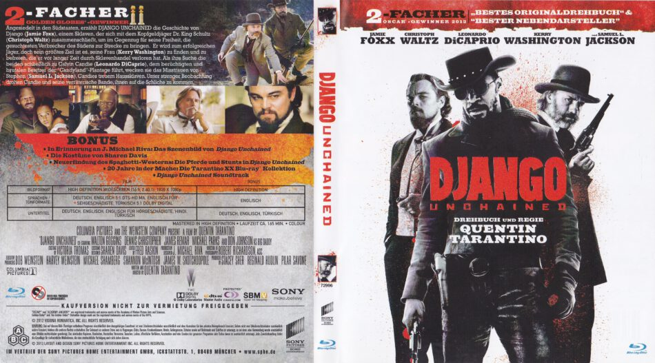Django Unchained 2012 R2 German Blu Ray Covers Label Dvdcover Com