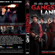 Gangster Land (2017) R1 CUSTOM DVD Cover
