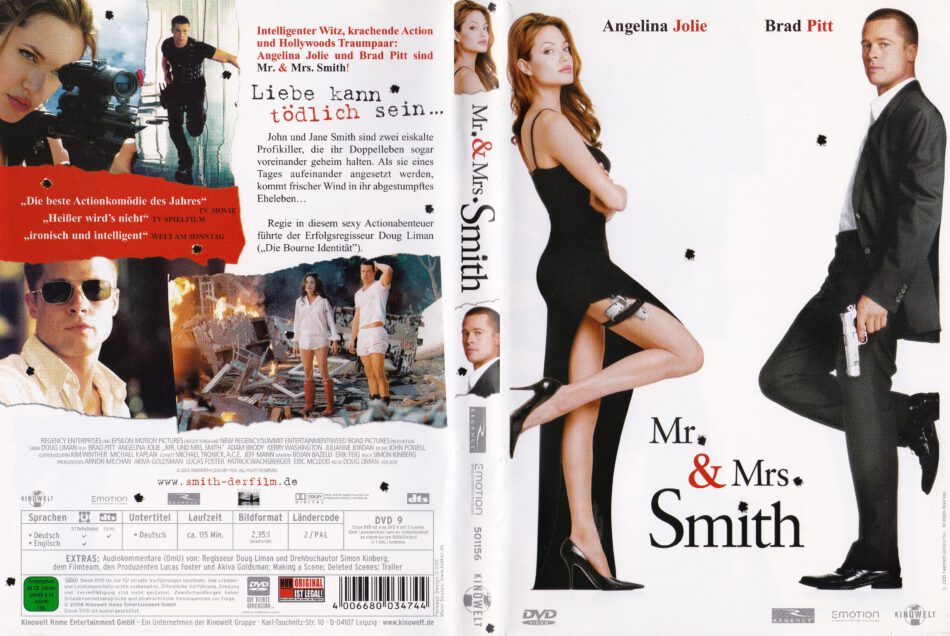 Mr Mrs Smith 2005 R2 German Dvd Cover Label Dvdcover Com