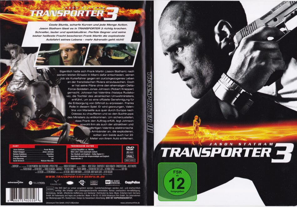 Transporter 2 blu-ray cover & label (2005) R1 |Transporter 2 Dvd Cover