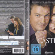 Castle - Staffel 8 (2016) R2 German DVD Cover & Labels