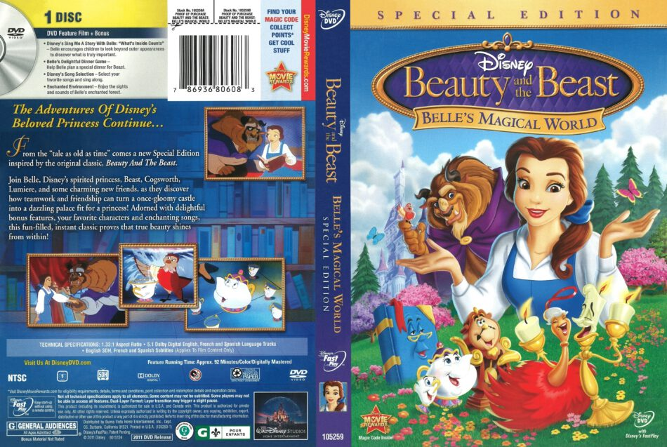 Beauty And The Beast Belle S Magical World 2011 R1 Dvd Cover Dvdcover Com