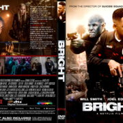 Bright (2017) R1 CUSTOM DVD Cover & Label