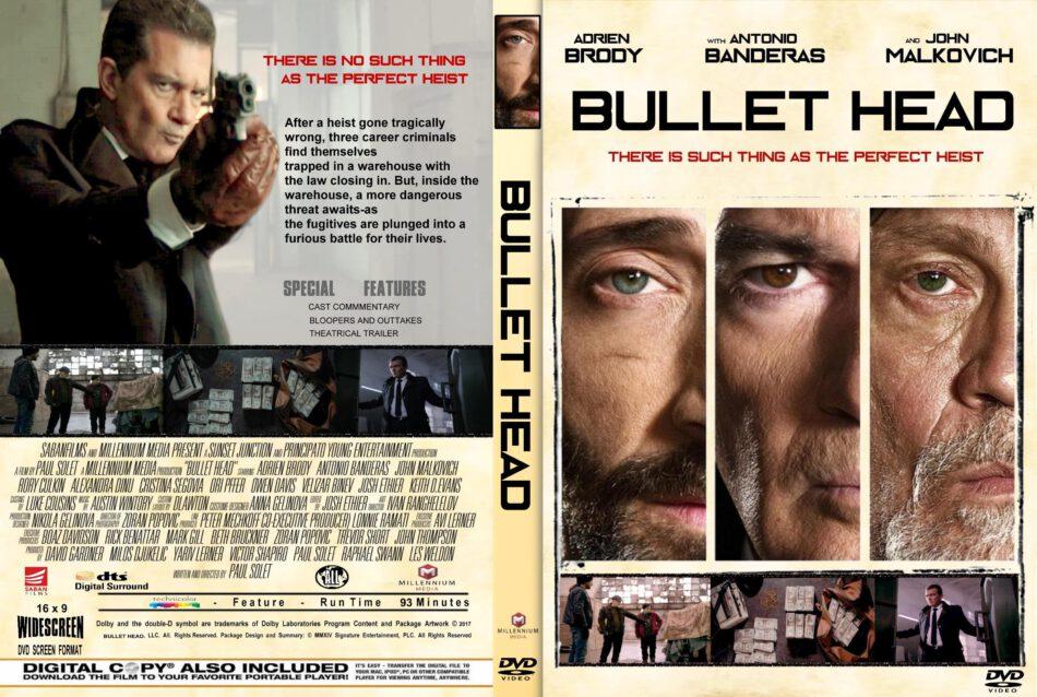 Bullet Head (2017) R1 CUSTOM DVD Cover & Label - DVDcover.Com