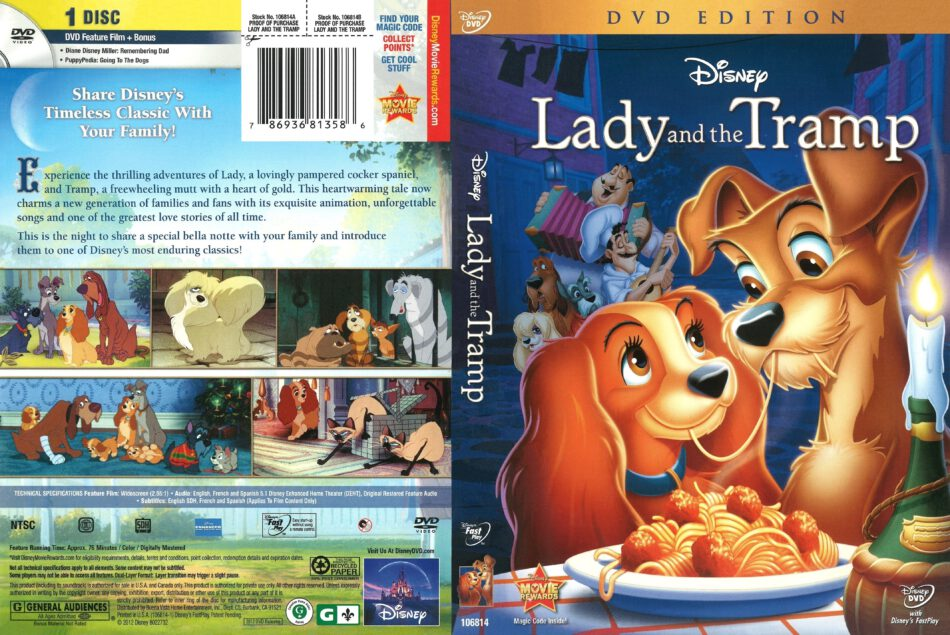 Lady And The Tramp 2012 R1 Dvd Cover Dvdcover Com