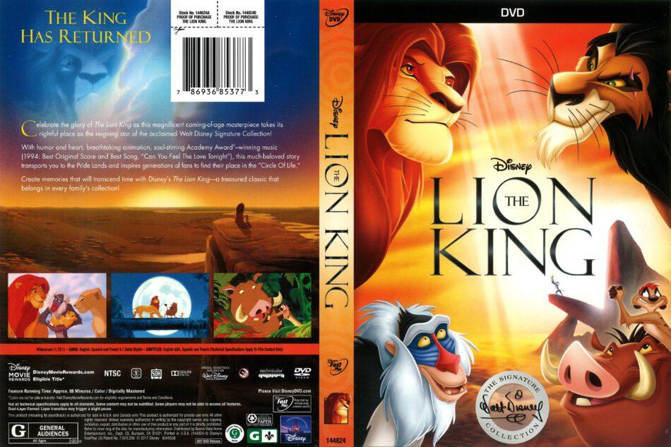 The Lion King 2017 R1 Dvd Cover Dvdcovercom