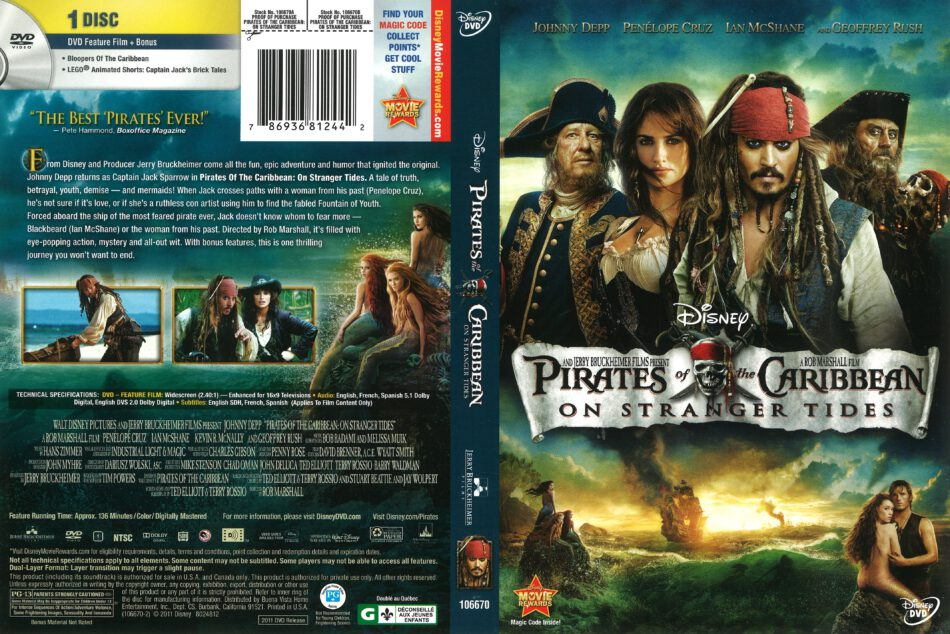 Pirates Of The Caribbean On Stranger Tides 2011 R1 Dvd Cover Dvdcover Com