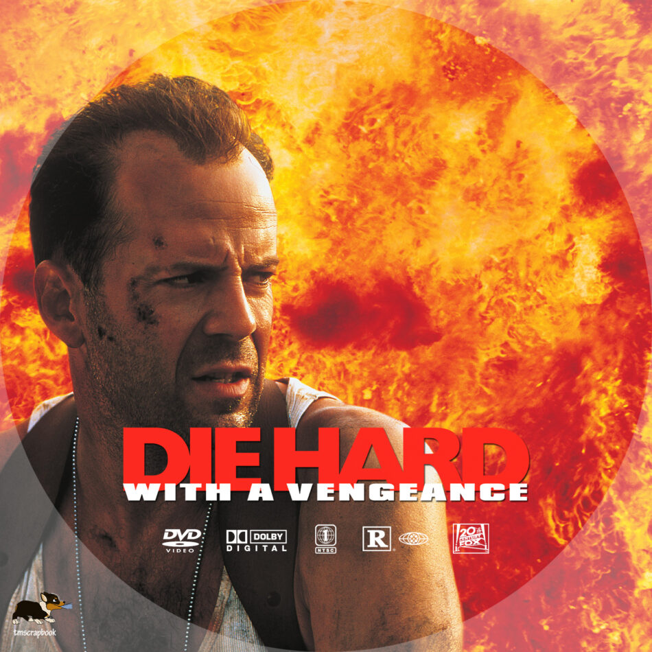Die Hard With A Vengeance 1995 R1 Custom Dvd Label Dvdcover Com