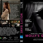 Molly's Game (2017) R1 CUSTOM DVD Cover & Label