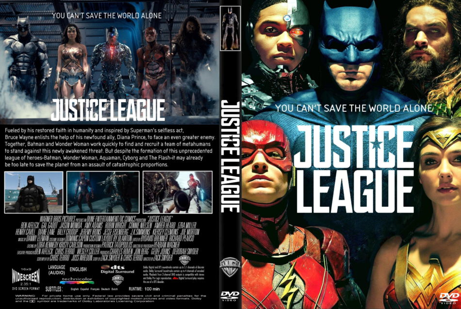 Justice League 2017 R1 Custom Dvd Cover Label Dvdcover Com
