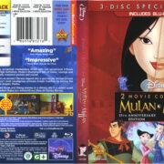 Mulan & Mulan II (2013) R1 Blu-Ray Cover & Labels