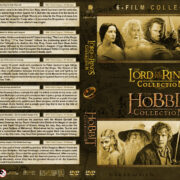 The Lord of the Rings Trilogy / The Hobbit Trilogy (2001-2014) R1 Custom DVD Cover