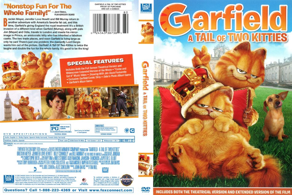 Garfield A Tale Of Two Kitties 2006 R1 Dvd Cover Dvdcover Com