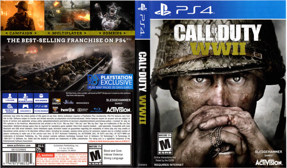 Call Of Duty Ww2 2017 Ps4 Cover Dvdcover Com