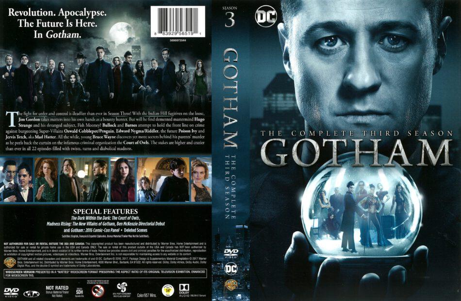 5104774bf821e4 Gotham Season 3 (2016) R1 DVD Cover - DVDcover.Com