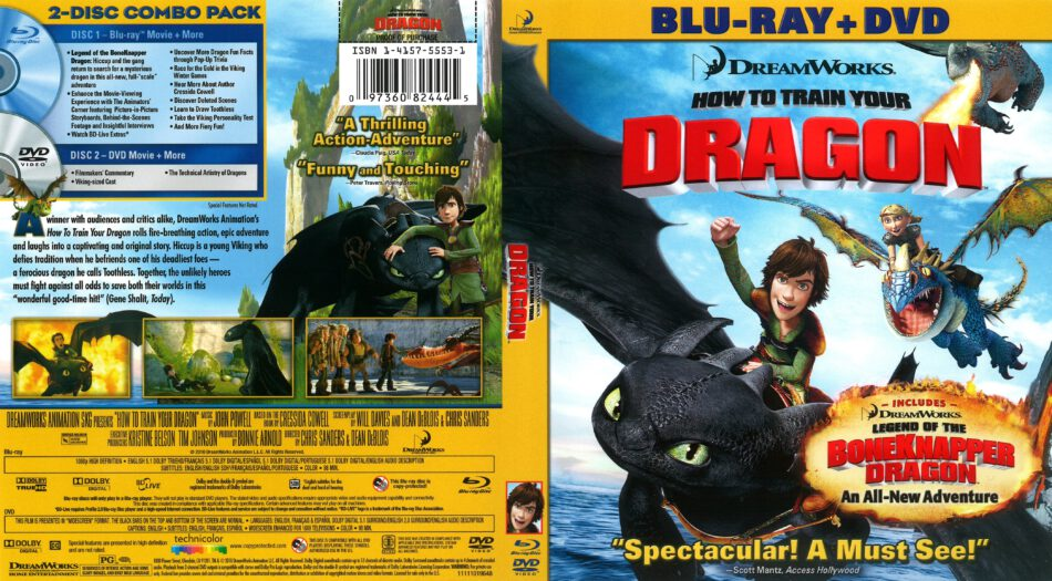 How To Train Your Dragon 2010 R1 Blu Ray Cover Dvdcover Com