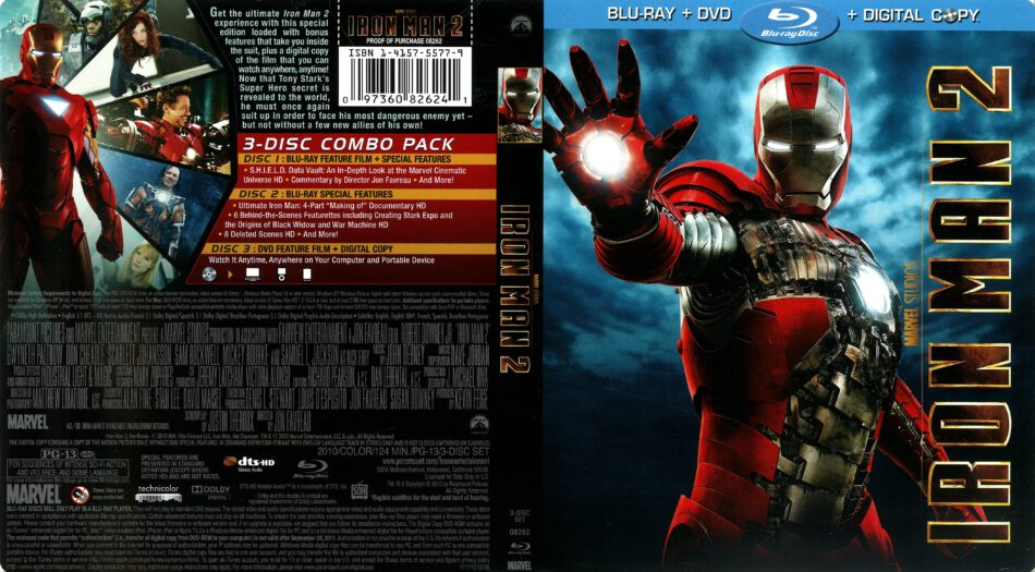 Iron Man 2 2010 R1 Blu Ray Cover Dvdcover Com