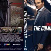 The Commuter (2018) R1 CUSTOM DVD Cover & Label