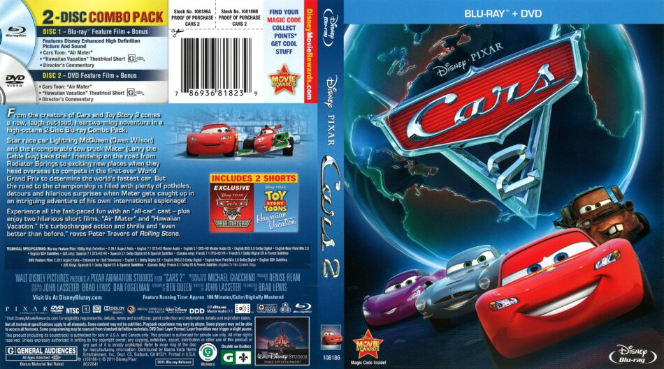 Cars 2 2011 R1 Blu Ray Cover Dvdcover Com