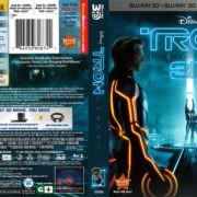 Tron Legacy 3-D (2011) R1 Blu-Ray Cover