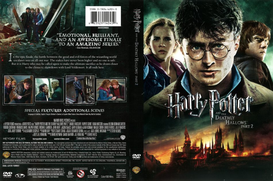 Harry Potter And The Deathly Hallows Part 2 2011 R1 Dvd Covers Dvdcover Com