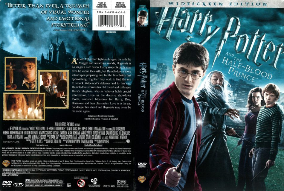 Harry Potter And The Half Blood Prince 2009 R1 Dvd Cover Dvdcover Com