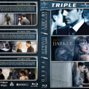 Fifty Shades of Grey / Darker / Freed Triple Feature (2015-2018) R1 Custom Blu-Ray Cover